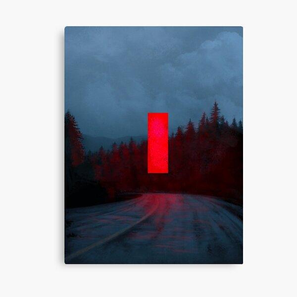 Red Monolith Canvas Print