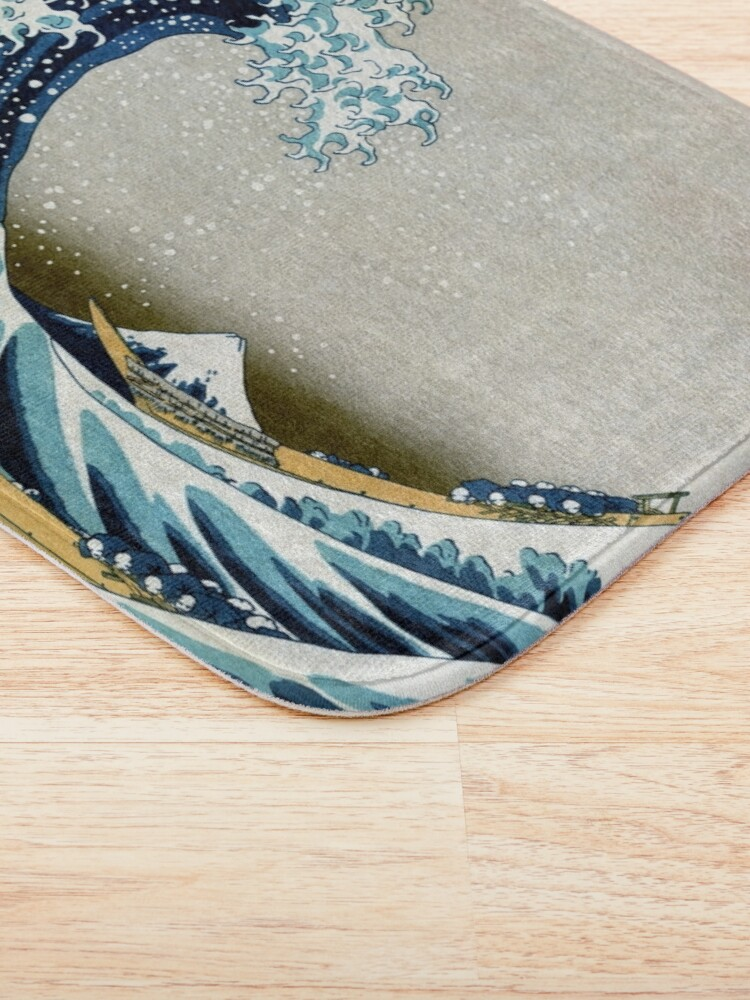 Alternate view of The great wave, famous Japanese artwork Bath Mat