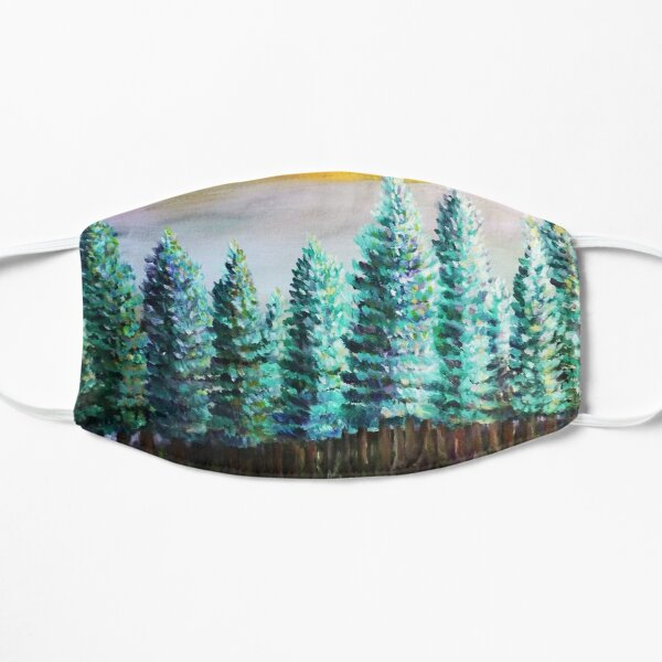 Mount Rainier Landscape Art  Mask