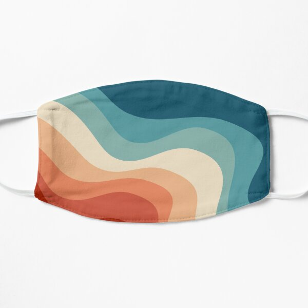 Retro style waves Mask