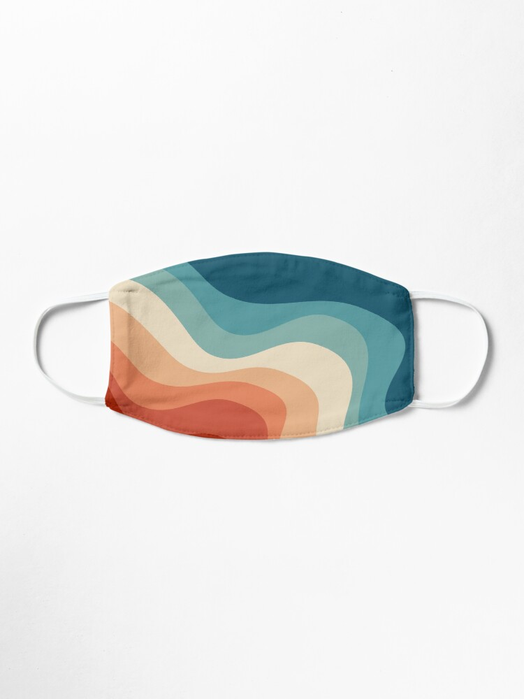 Alternate view of Retro style waves Mask