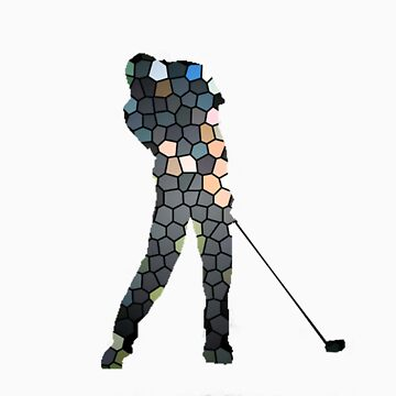 Tiger Woods Fragmented Glass T-Shirt Design  by TheSmile