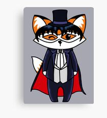 Tuxedo Fox Canvas Print