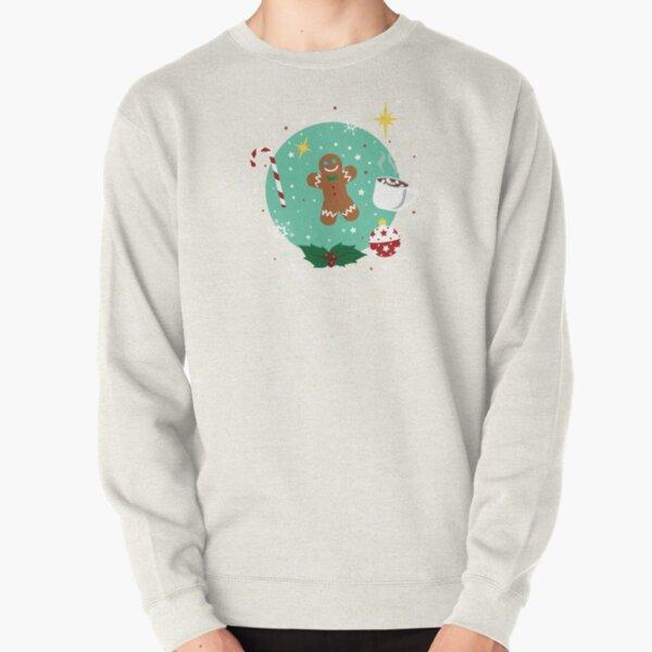 X-mas Time Pattern Pullover Sweatshirt
