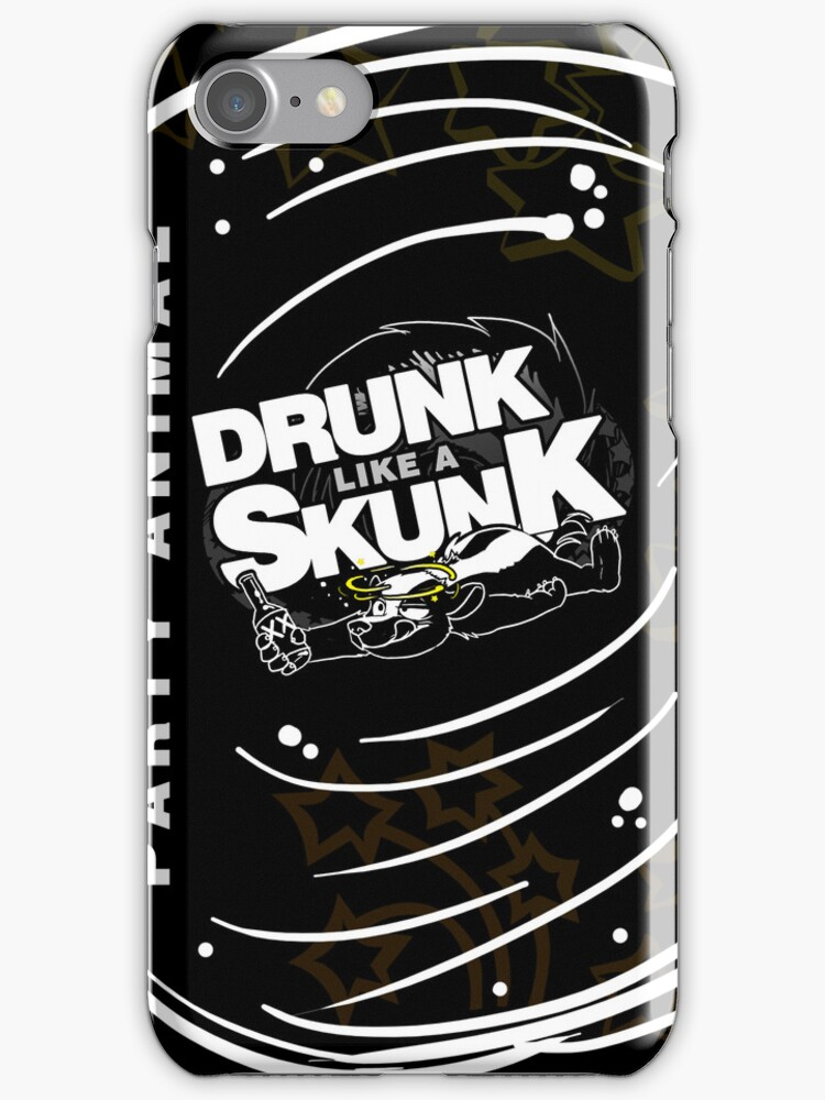 Drunk like a Skunk (Black Background) by Zhivago