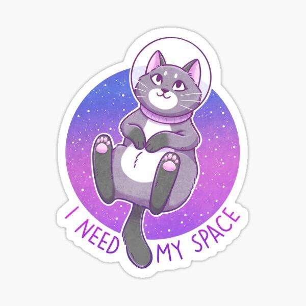 I Need My Space Astronaut Kitty Sticker