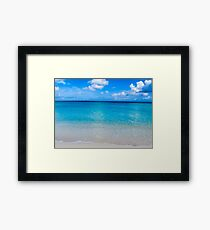 Clouds, sea, sand. Framed Print