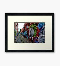 Urban Graffiti Framed Print