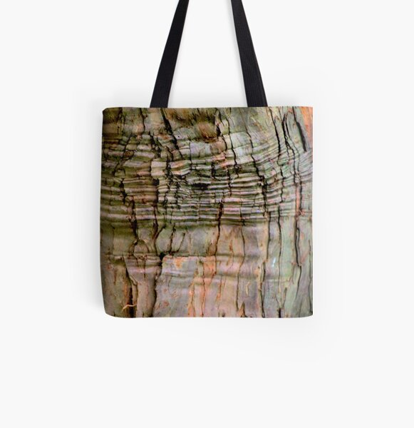 Yew tree bark texture All Over Print Tote Bag