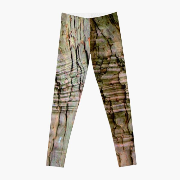 Yew tree bark texture Leggings