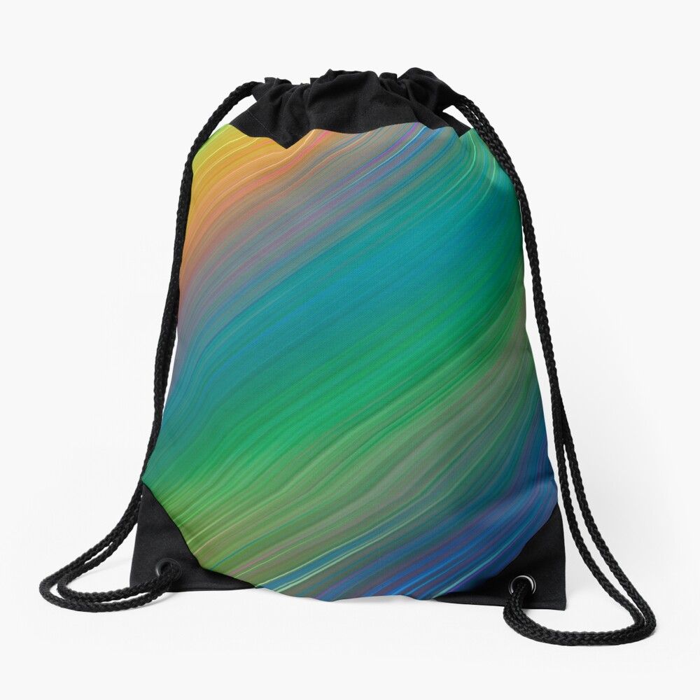 The colours of the rainbow Drawstring Bag