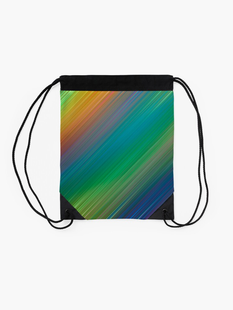Alternate view of The colours of the rainbow Drawstring Bag