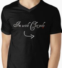 I'm with Clotpole  Mens V-Neck T-Shirt