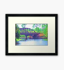 Watercolor Bridge at Walt Disney World Framed Print