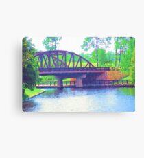 Watercolor Bridge at Walt Disney World Canvas Print