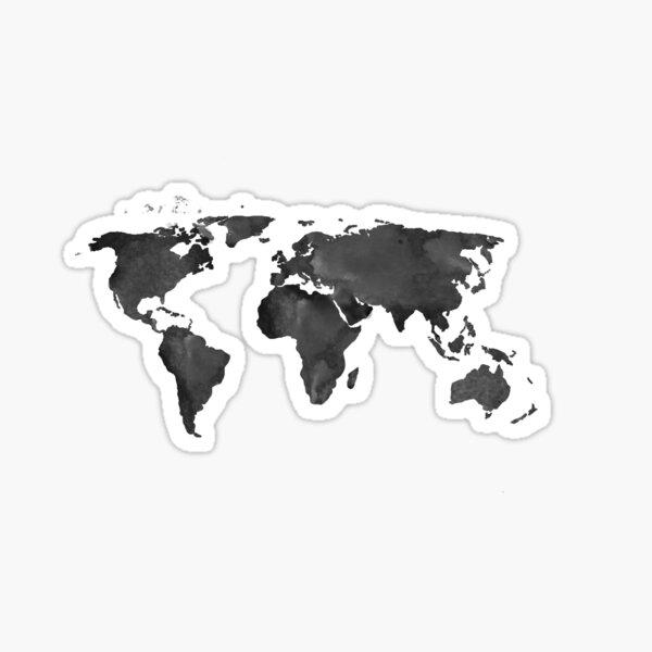 Watercolour Map Sticker