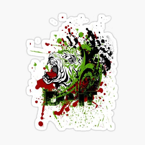 Tiger Head Paint Splash DO IT Sticker