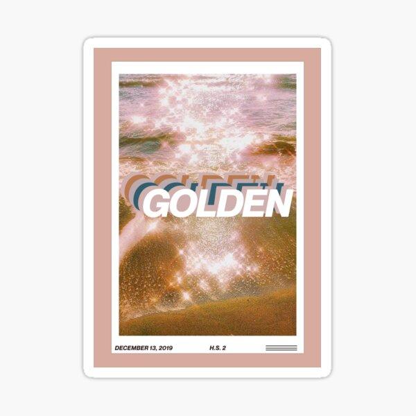 golden harry styles magazine cover edit Sticker