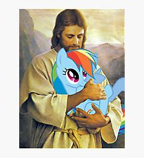 Jesus Loves Rainbow Dash Photographic Print