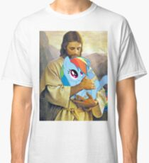Jesus Loves Rainbow Dash Classic T-Shirt