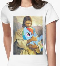 Jesus Loves Rainbow Dash Women's Fitted T-Shirt