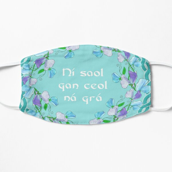 Celtic Kameron Logo with Gaelic Quote - There is no life without music or love ~ Flat Mask