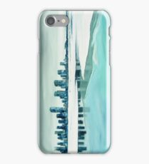 Cold city - abstract winter cityscape iPhone Case/Skin