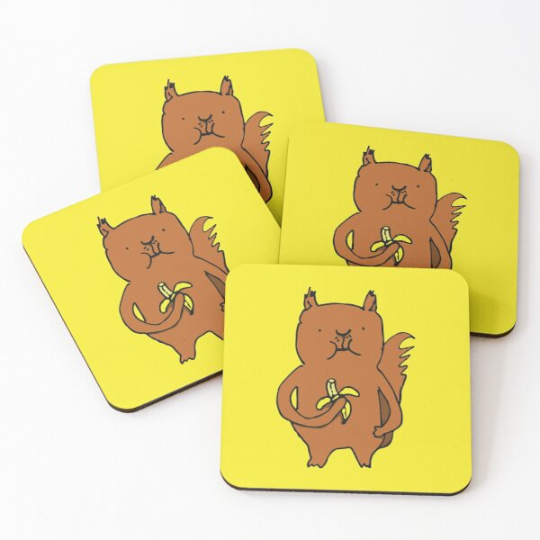 Banana Squirrel Coasters (Set of 4)