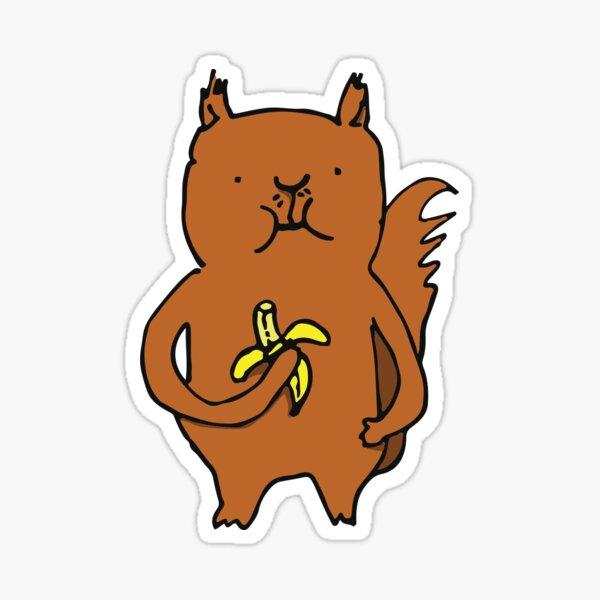 Banana Squirrel Sticker