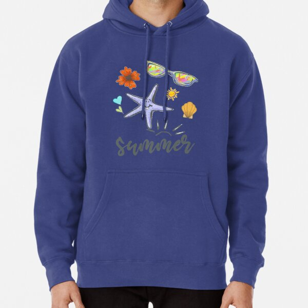 Flower by the Sea in summer... Slim Fit T-Shirt Pullover Hoodie