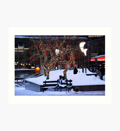 Montreal - Christmas Holidays Art Print