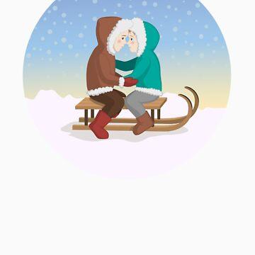 Eskimo kiss by elenab