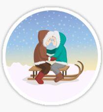 Eskimo kiss Sticker