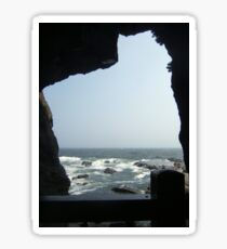 Sea View From A Cave Sticker