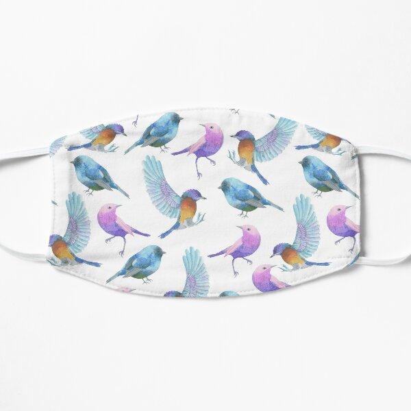 Watercolour Birds In Flight Flat Mask