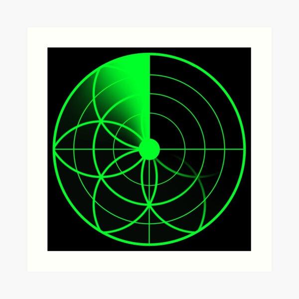 Seed of Life Radar Art Print