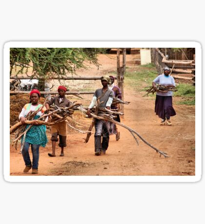 #SERIES# CHILDREN OF AFRICA , THE YOUNG AND THE OLD, SERIES, WOMAN AT WORK Sticker
