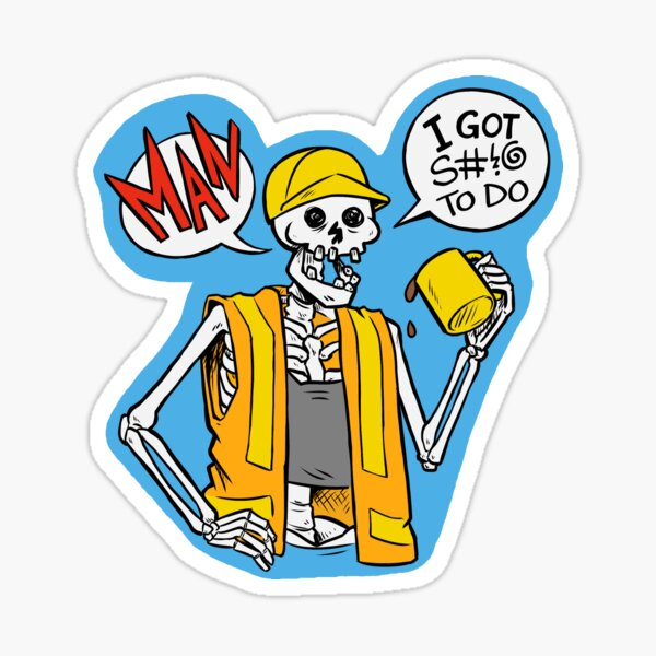 Stuff to Do! Skeleton Sticker
