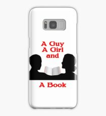 A Guy A Girl and A Book Samsung Galaxy Case/Skin
