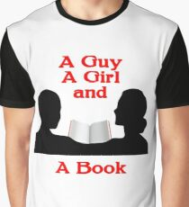 A Guy A Girl and A Book Graphic T-Shirt