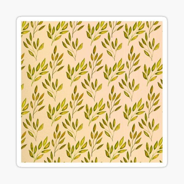Fall Olive Branch Leaf Pattern Sticker