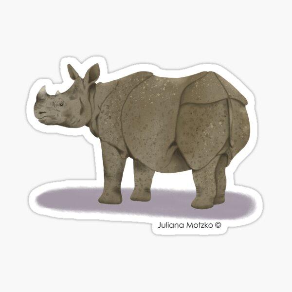 Sumatran Rhino Sticker