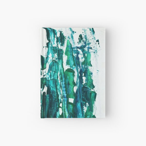 Tribal Reef  - Abstract  / Acrylic on Canvas  by Kathrina Shine Hardcover Journal