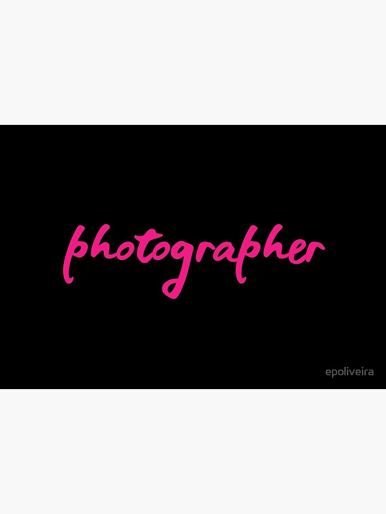Photographer Pink Script by epoliveira