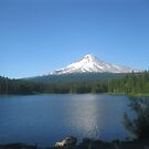 Reflections of Mt Hood from way off  by kevin seraphin