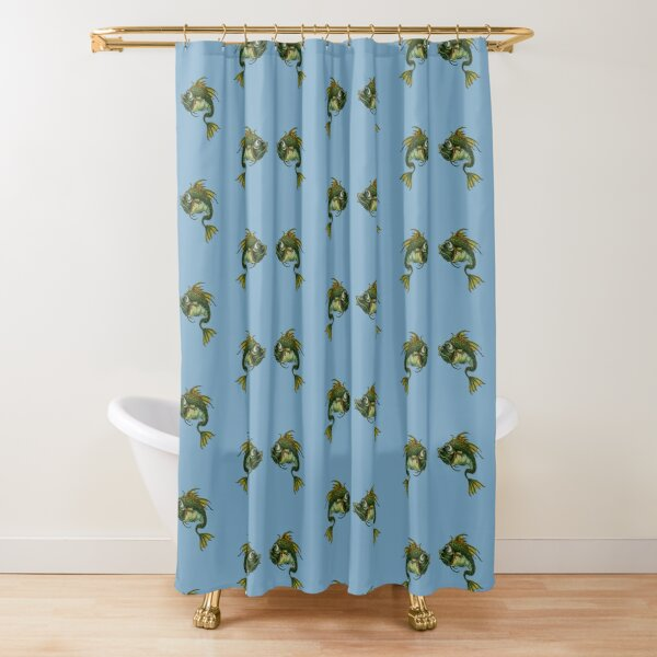 Two Facing Fish Shower Curtain