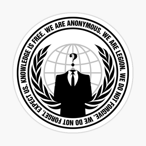 Show The World Your Support For Anonymous Sticker