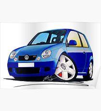 VW Lupo GTi Blue Poster