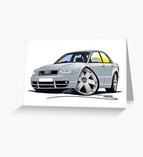 Audi S4 (B5) Silver Greeting Card
