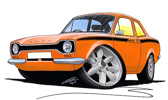 Ford Escort (Mk1) Mexico Orange by yeomanscarart